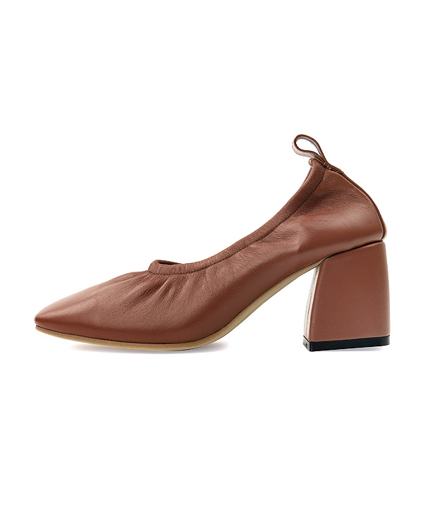 Soft Leather Square Pumps