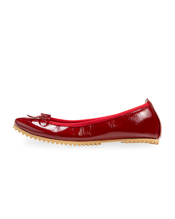 Enamel Leather Ballerina
